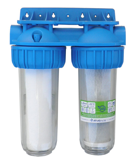 Dvojni hišni filter za vodo Duplex CTO