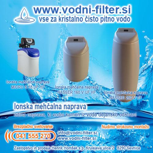 Klor iz vode popolnoma odstrani vodni filter